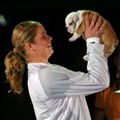 Kim Clijsters and her dog